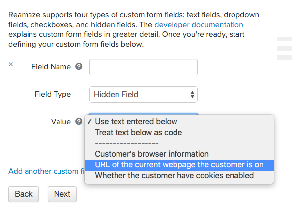 Expanded Embedded Contact Form – Reamaze