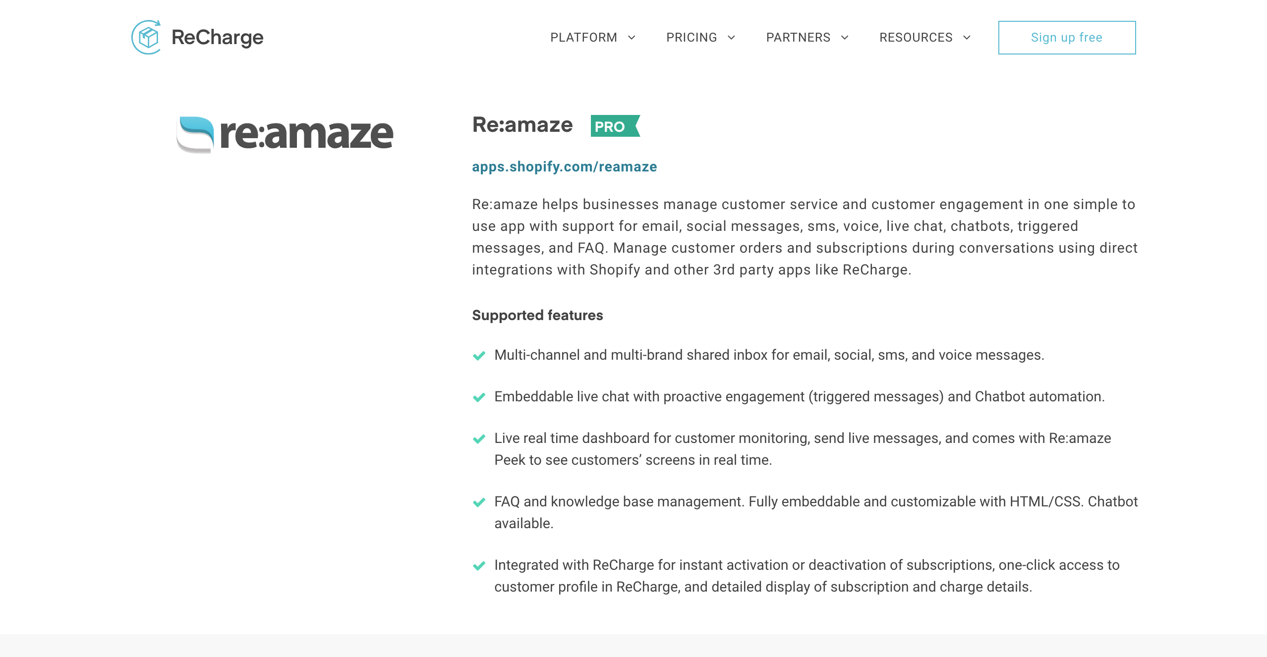 Re:amaze Integrates with ReCharge Payments for Seamless eCommerce
